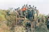 Balraj-with-fellow-fighters-on-a-Main-Battle-Tank-seized-by-the-Tigers-in-Iththaavil