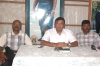 LTTE Political Head B. Nadesan addressing the gathering. Sea Tigers Deputy Commander Vinayagam is seated on the Left.