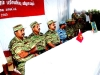 (L-R) Mr.Elilan, Mr.Vasanthan and Colonel Sornam are seated at the head table with other LTTE activists
