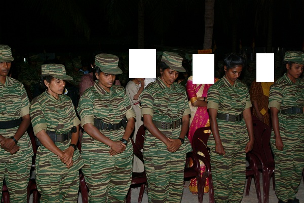 LTTE leaders commemorating  Black Tigers 1