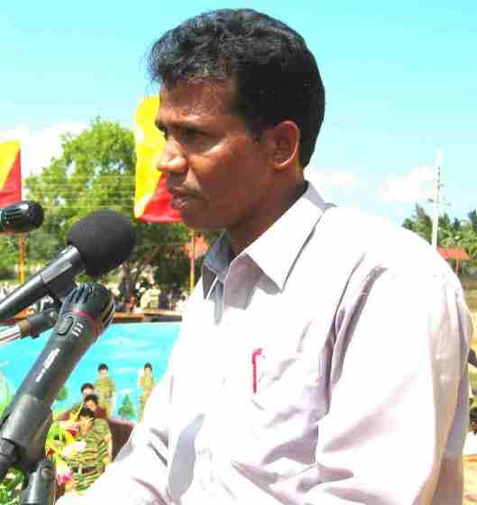 LTTE Special Commander Mr.T.Ramesh delivering his speech