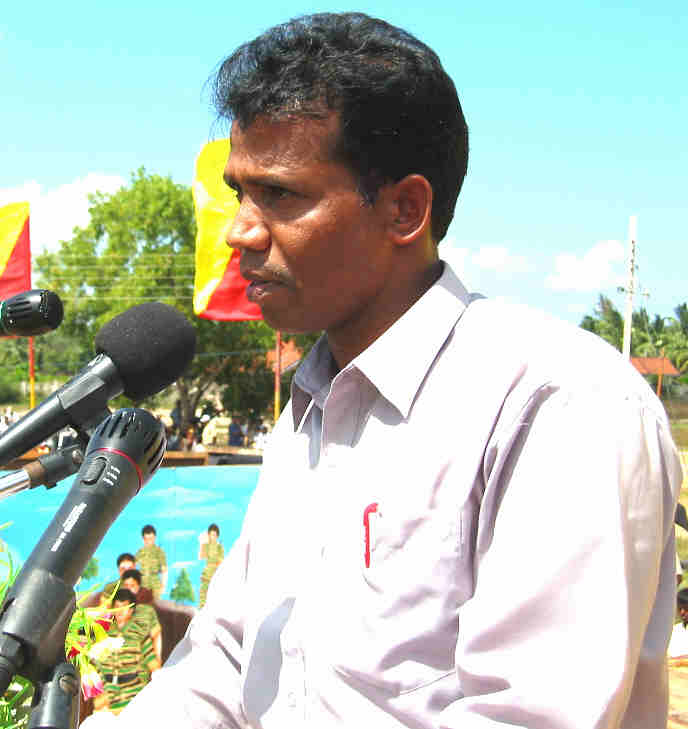 LTTE Special Commander Mr.T.Ramesh delivering his speech